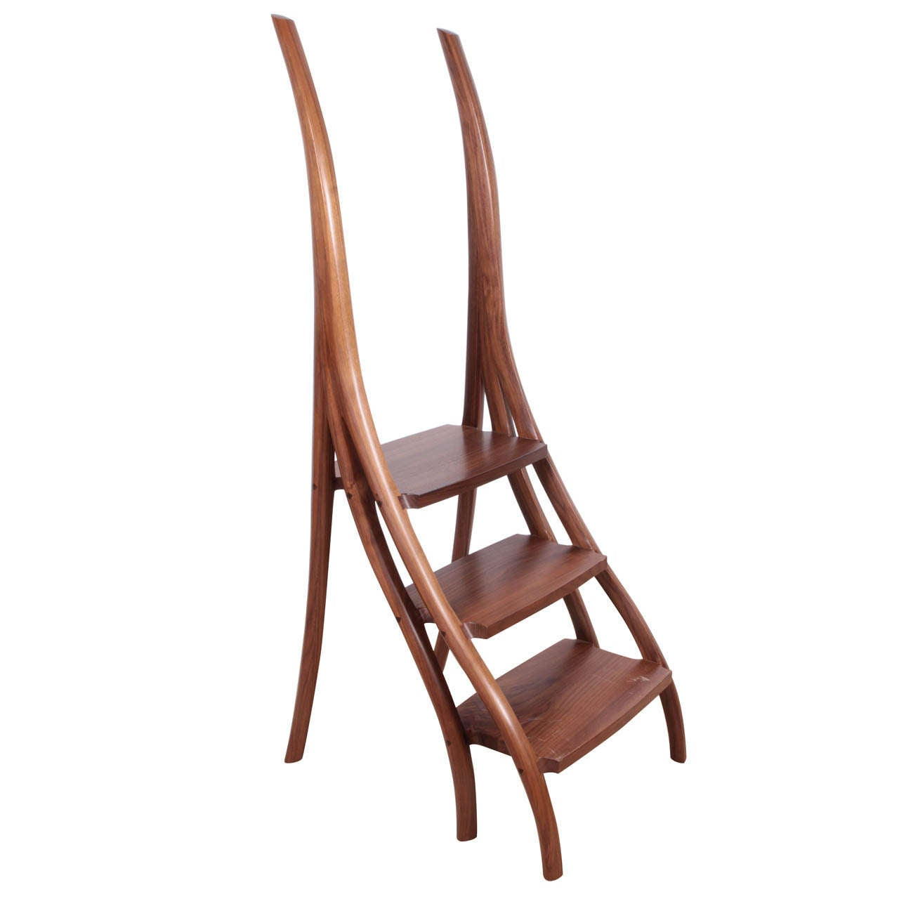 Library Ladder Chair David Ebner Library Stool At 1stdibs