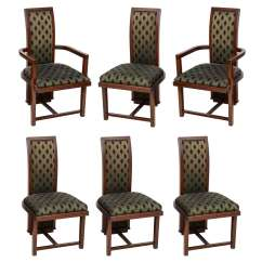 Frank Lloyd Wright Chairs French Woven Cafe Set Of 12 Taliesin Mahogany Dining By Henredon For Sale