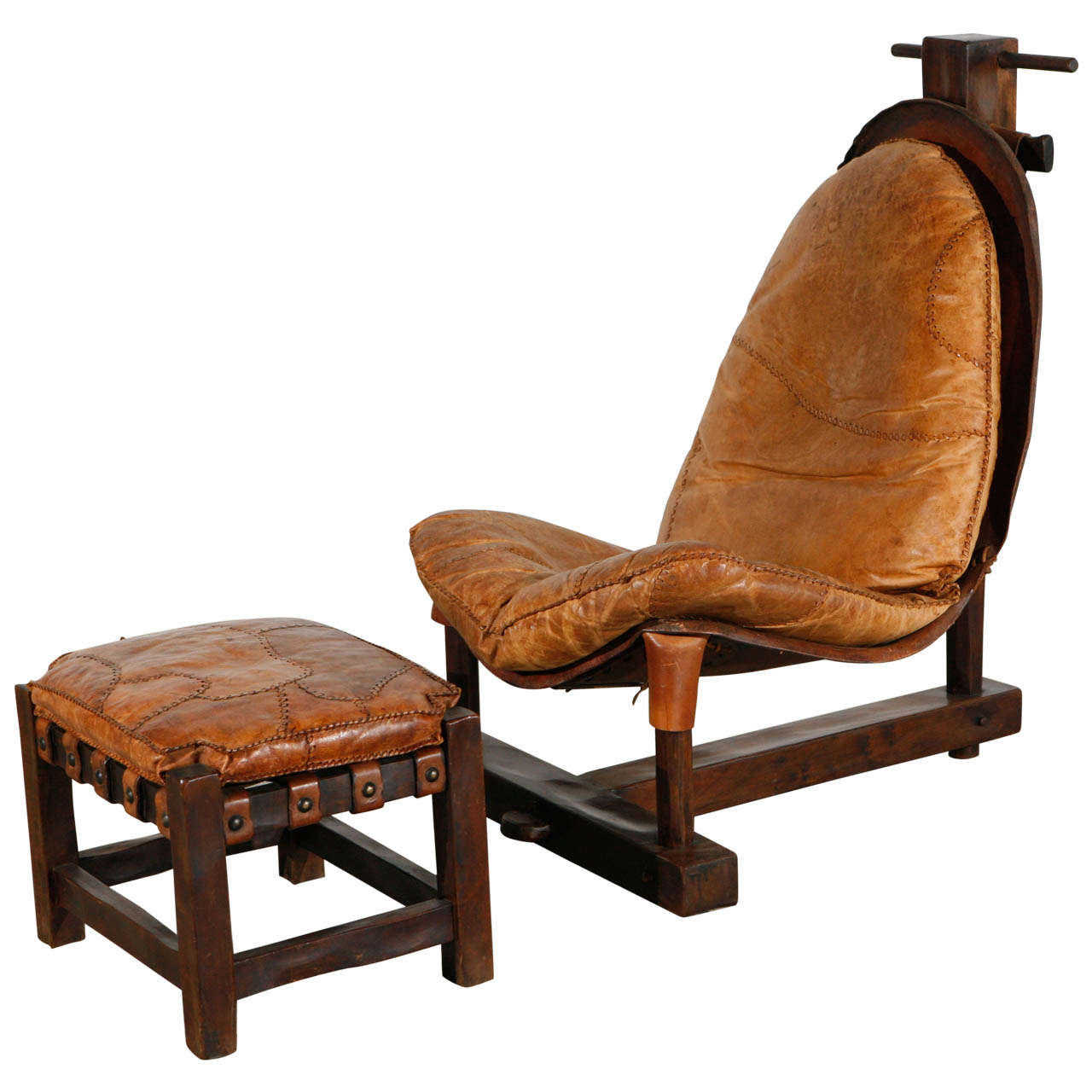 Unusual Chairs Unusual Handmade Chair And Ottoman At 1stdibs
