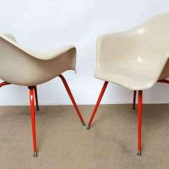 Fiberglass Shell Chair Canoe Review Mid Century Vintage Eames Era Arm Chairs