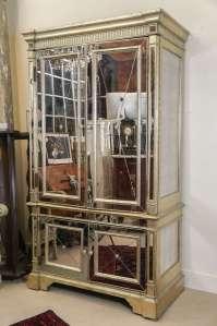 Mirrored Storage Cabinet at 1stdibs