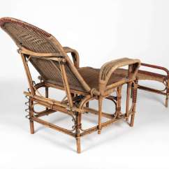 Foot Rests For Chairs Fancy Folding Art Deco Reclining Wicker Lounge Chair With Detachable
