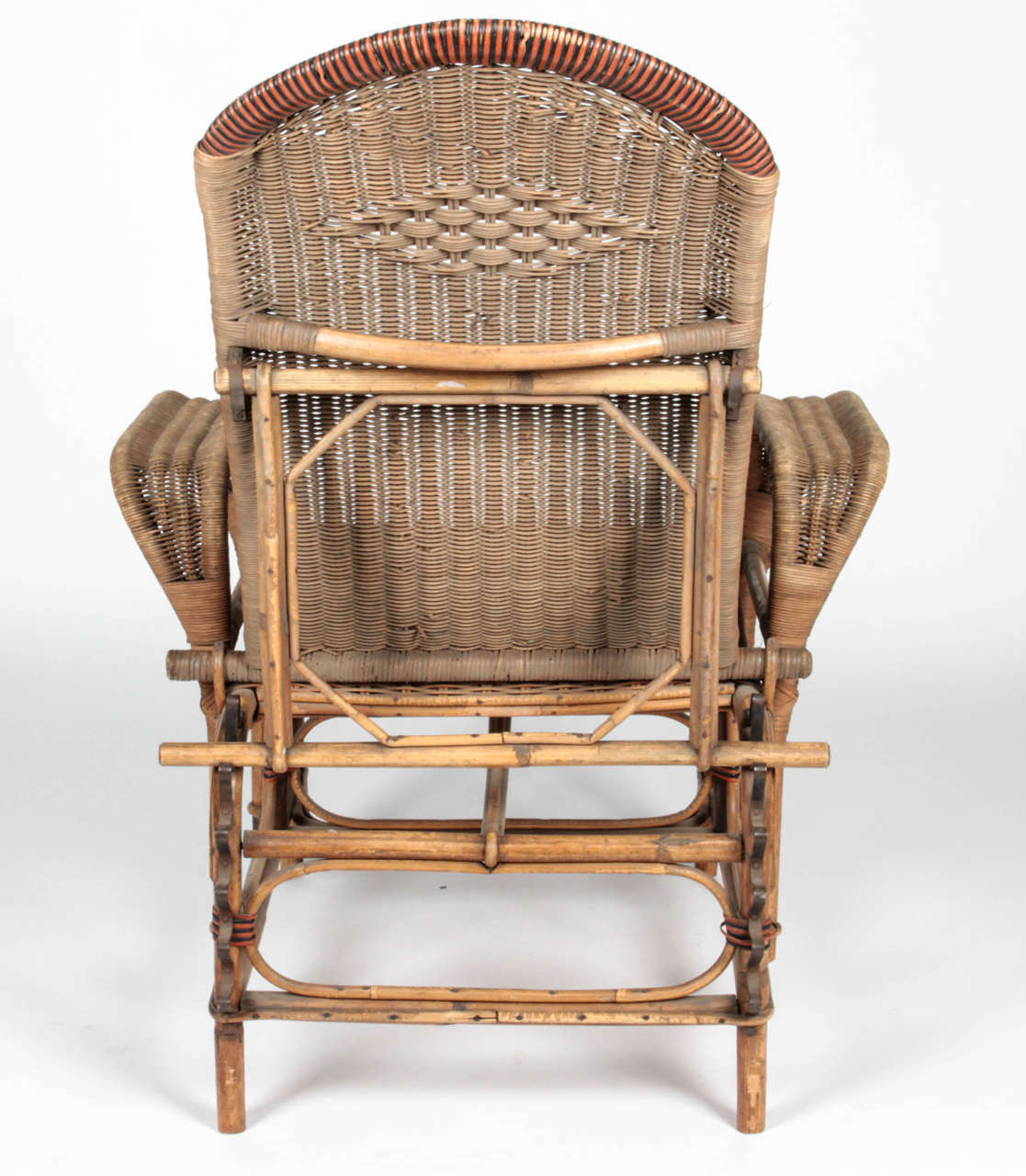 foot rests for chairs restoration hardware metal chair art deco reclining wicker lounge with detachable