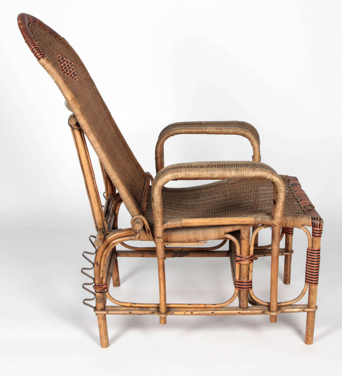 foot rests for chairs baby trend high chair art deco reclining wicker lounge with detachable