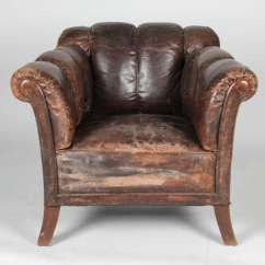 Leather Club Chairs For Sale Royal Rent 20th Century Distressed Vertical Tufted