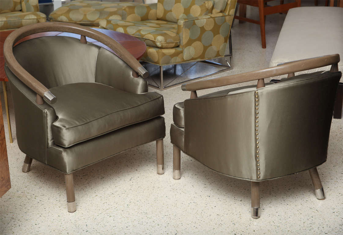 the revolving chair miami posture mate geri pair of romweber limed oak club chairs for sale at 1stdibs
