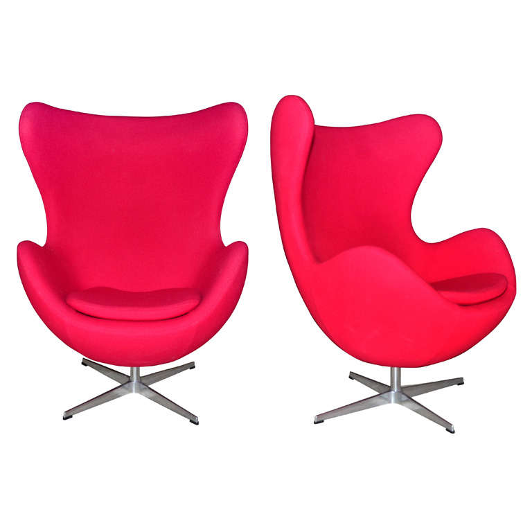 steelcase vintage chair boon flair pedestal high pair of swivel tilt red egg by arne jacobsen at 1stdibs