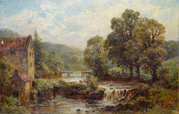 Samuel Henry Baker - Cauldrin Mill Painting