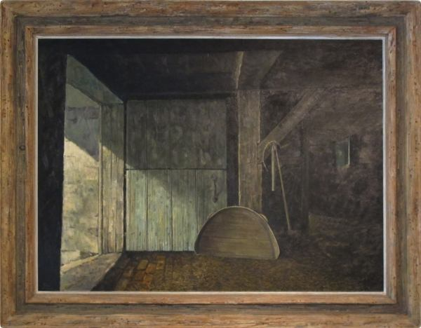 Eric Sloan - Barn Interior Painting 1stdibs