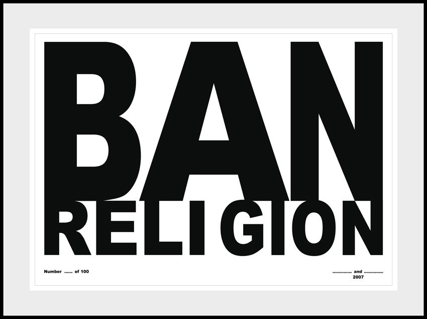 Gilbert And George Ban Religion Print At 1stdibs