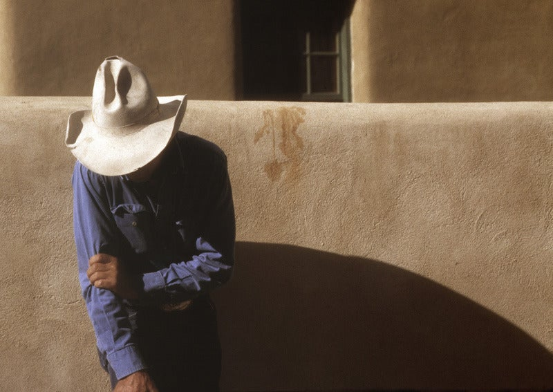 Robert Farber Cowboy Looking Down New Mexico