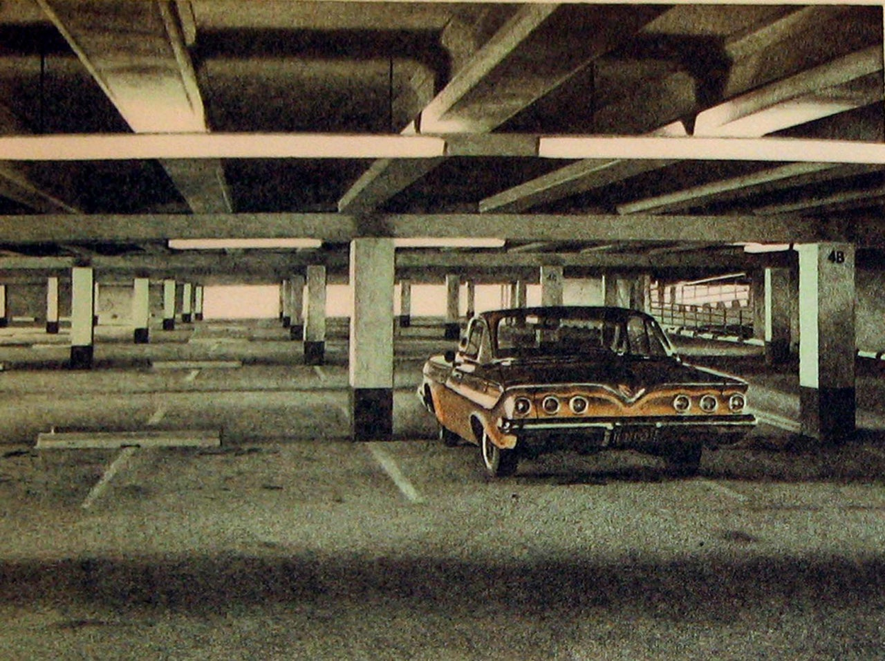 hight resolution of  61 impala from four chevies print by robert bechtle