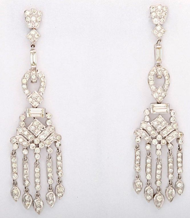 These Delightful Gems Dance On The Ear Earrings Have 5 26 Carats Of Diamonds Set