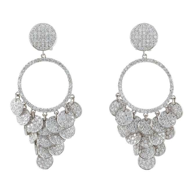 Pave Diamond Chandelier Earrings For