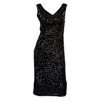 1950s Unusual Sequin Cocktail Dress at 1stdibs