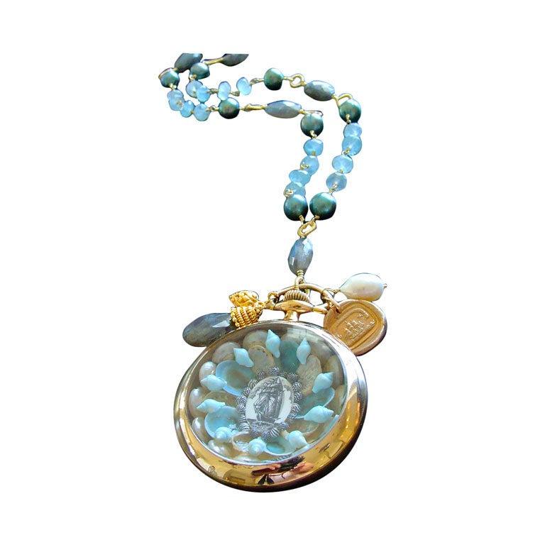 Sailors Valentine Aquamarine Labradorite Necklace