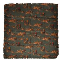 """Fox Hunting"" Wool Challis Scarf For Sale at 1stdibs"