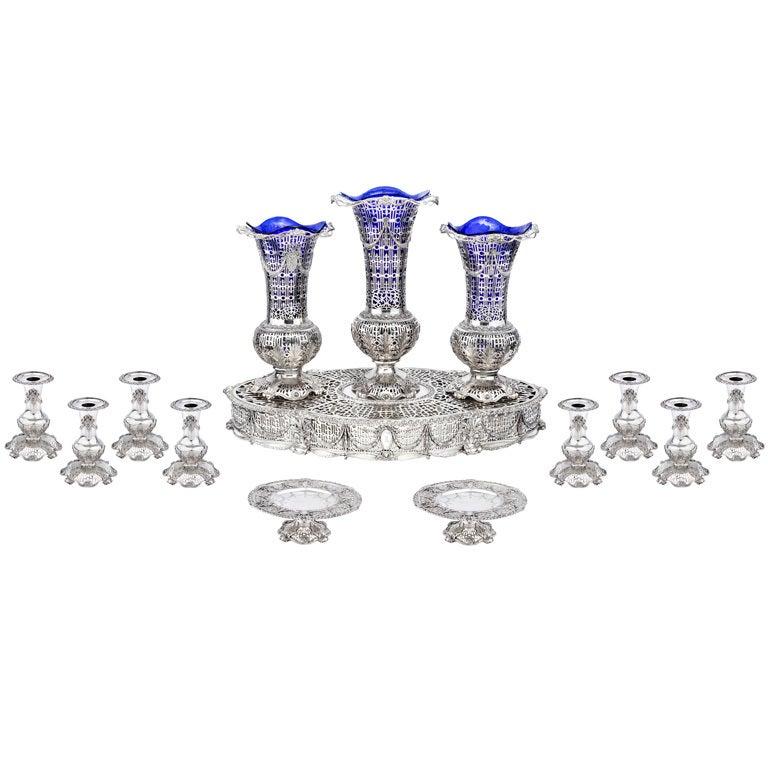 CALDWELL Silver 14-Piece Table Garniture, Circa 1900 at