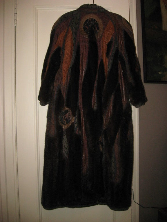 Koos Couture Unique Mink Fur Coat For Sale At 1stdibs