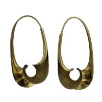"MICHAEL GOOD ""Torque"" Gold Earrings at 1stdibs"