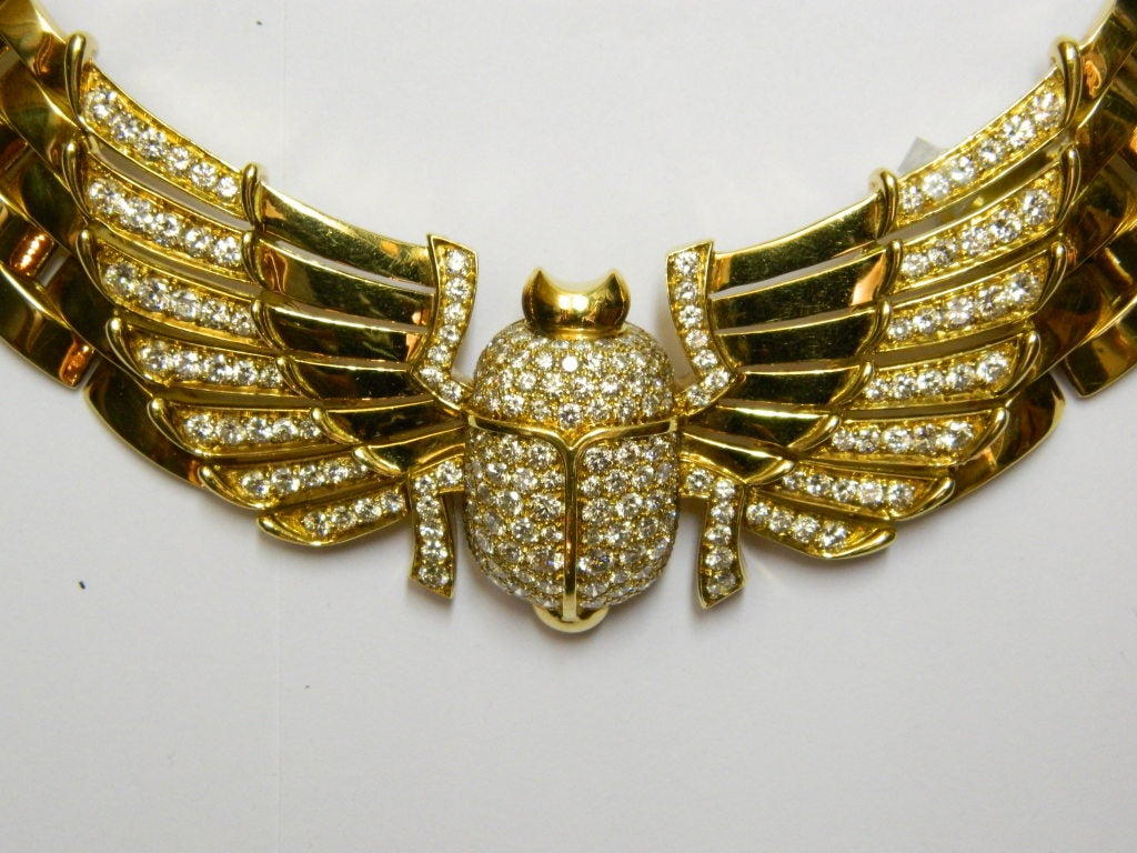 A Superb Egyptian Revival Necklace By Cartier At 1stdibs