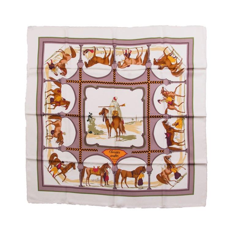 Hermes Carr 233 Silk Equestrian Print At 1stdibs