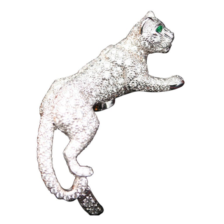 Cartier Panthère 'Sooky' Onyx Emerald Diamond White Gold