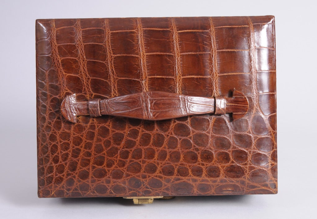 1950s Abercrombie and Fitch Alligator Jewelry Box at 1stdibs