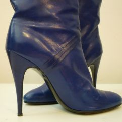 High Heel Shoe Chair Value City Green Resin Adirondack Chairs 80s Indigo Blue Stiletto Boots From Paris For Sale At 1stdibs