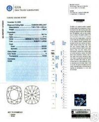 Ideal Cut Cushion Diamond Platinum Ring at 1stdibs