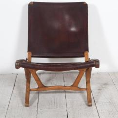 Folding Chair Leather Outdoor Italian And Wood At 1stdibs