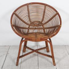 Round Bamboo Chair Replacement Dining Room Cushions Italian Lounge Chairs At 1stdibs