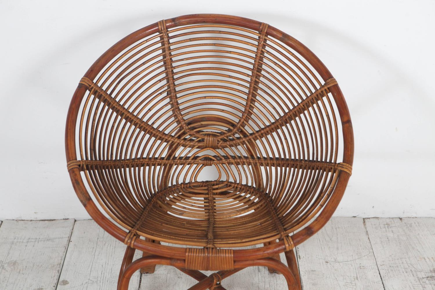 round bamboo chair swing benefits italian lounge chairs at 1stdibs