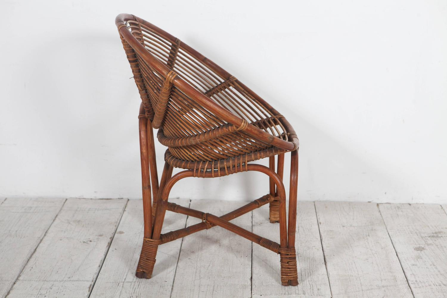 round bamboo chair high for elderly manufacturer italian lounge chairs at 1stdibs