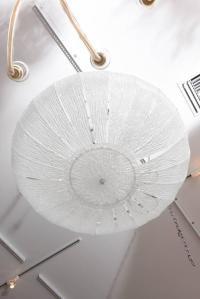 Murano Glass Flush Mount Light Fixture at 1stdibs