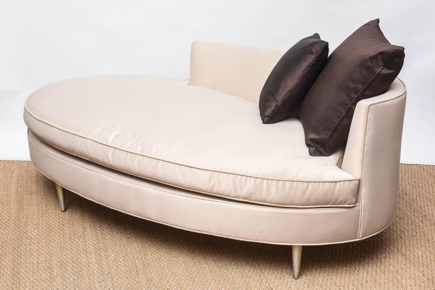 oval sofa fl bed shaped recamier chaise at 1stdibs
