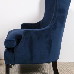 Blue Velvet Armchair Nz Rocker Recliner Chairs Pair Of Club At 1stdibs