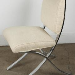 Vintage Designer Chairs Office Swivel Chair Covers Modern Barcelona Chrome Side At 1stdibs