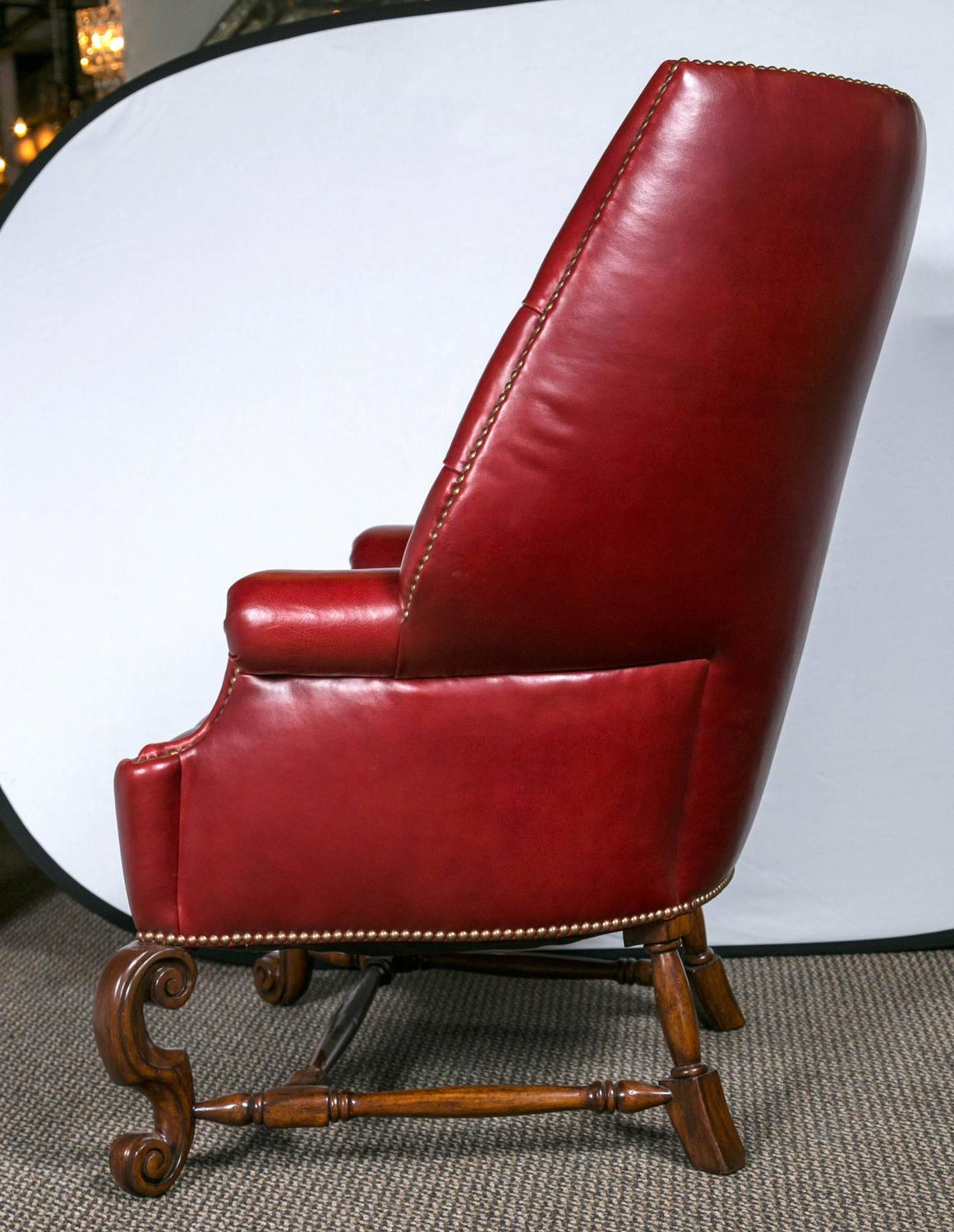 large wingback chair wholesale chairs and tables pair of oversized tufted leather for sale