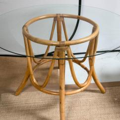 Round Bamboo Chair Where To Buy A Bean Bag Vintage Rattan Dining Table And Chairs At