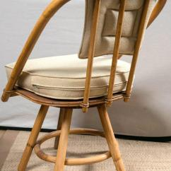 Round Bamboo Chair Swivel Plush Vintage Rattan Dining Table And Chairs At