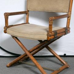 Bamboo Directors Chairs Wing For Living Room Set Of Four Mcguire Faux Director At 1stdibs