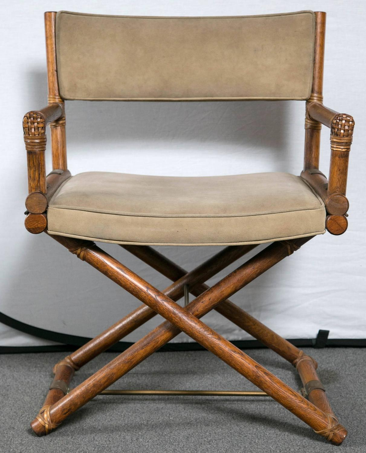 bamboo directors chairs boppy baby chair uk set of four mcguire faux director at 1stdibs