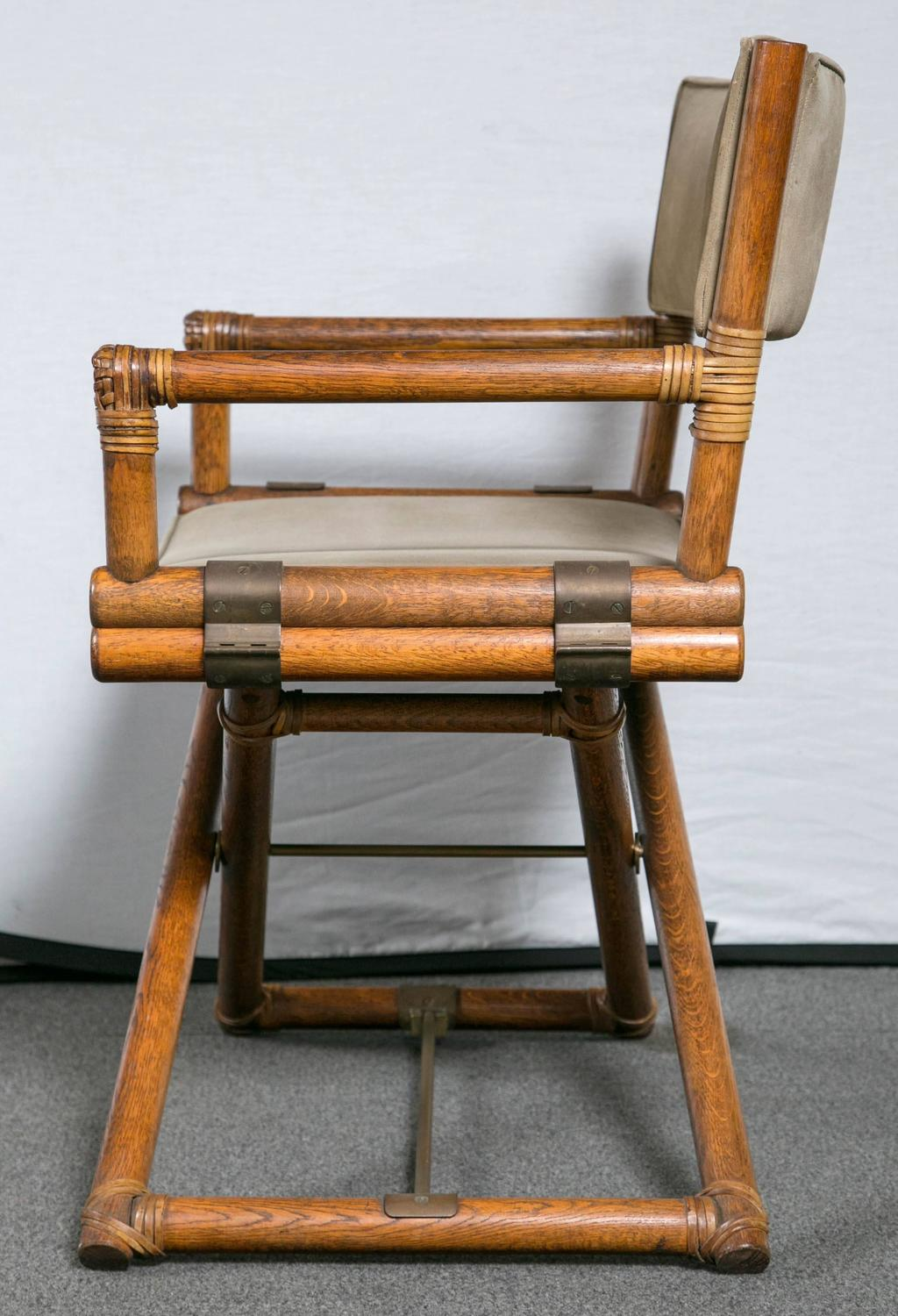 bamboo directors chairs chair covers rental columbia sc set of four mcguire faux director at 1stdibs