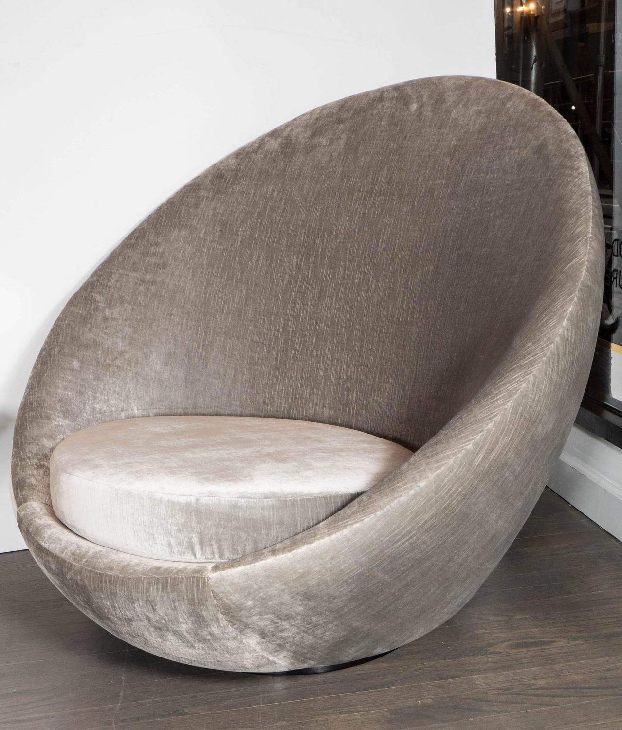 swivel chair egg outdoor swing with stand mid century modernist quotegg quot by milo baughman