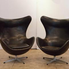 Vintage Egg Chair Booster Or High Two Chairs By Arne Jacobsen Denmark At 1stdibs