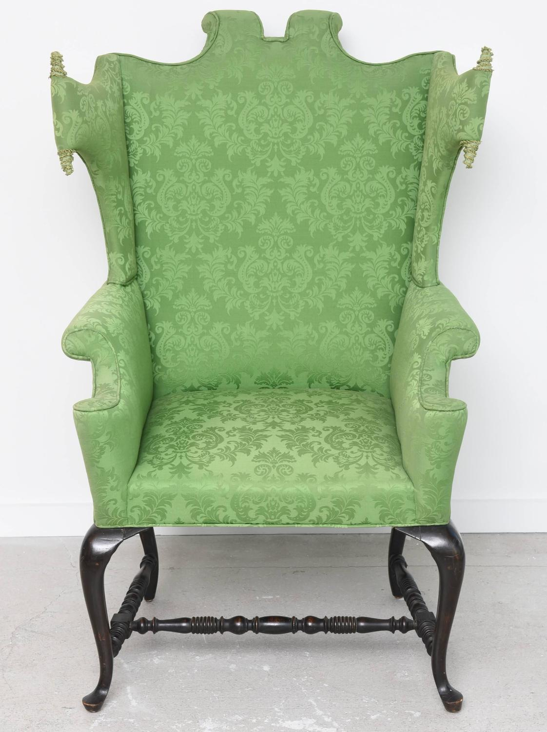 queen anne style chair fabric computer whimsical at 1stdibs