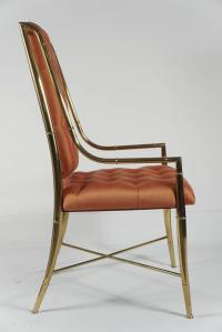 Brass Chairs for Mastercraft Furniture at 1stdibs