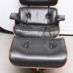 Eames Style Lounge Chair And Ottoman Rosewood Black Leather Childrens Table Chairs New Zealand Late 1960s In Leather, Usa At 1stdibs