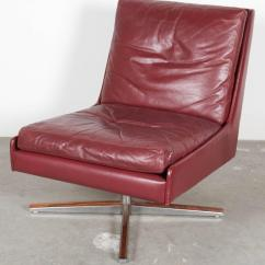 Emil Leather Slipper Chair Fingal Swivel Chairs On Base Pair For Sale At